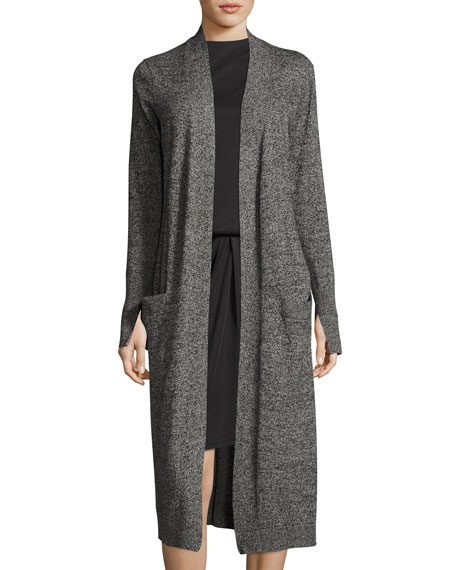 Halston Heritage Long-Sleeve Open-Front Duster Cardigan and