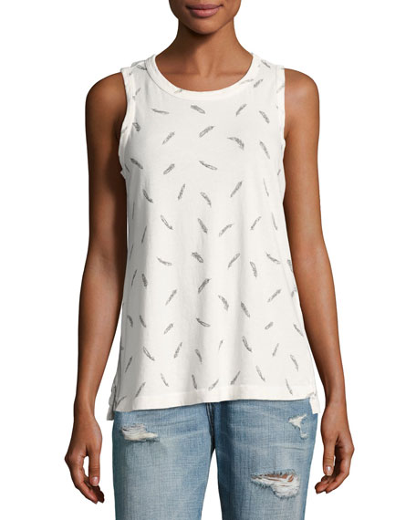 Current/Elliott The Muscle Cotton Tee, White
