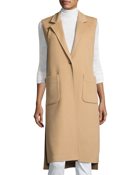 Halston Heritage Double-Faced Wool-Blend Vest