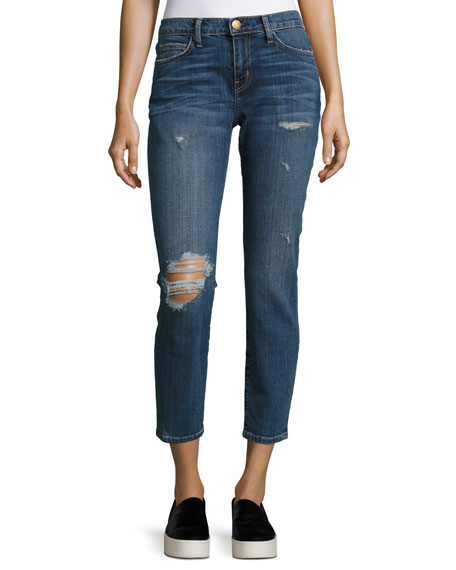 Current/Elliott The Easy Stiletto Love Destroy Cropped Skinny