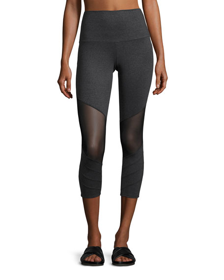 Onzie Moto Capri Performance Leggings, Gray