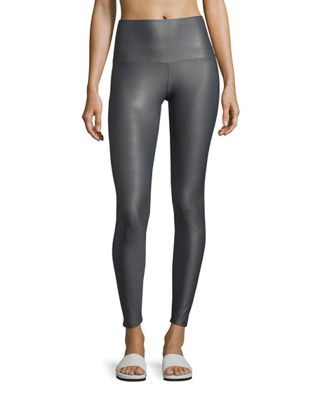 Onzie High-Rise Performance Leggings, Gray