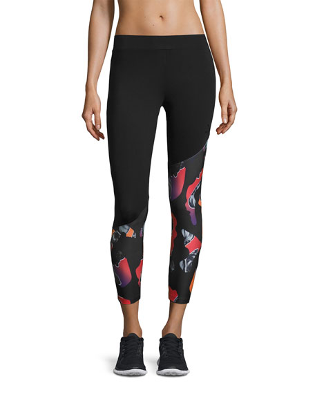 Archive Camo-Print 7/8 Performance Leggings, Black