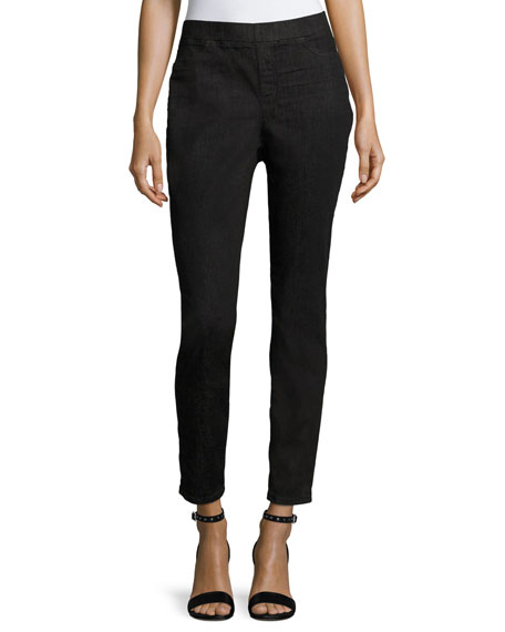 Eileen Fisher Soft Stretch-Denim Leggings, Plus Size
