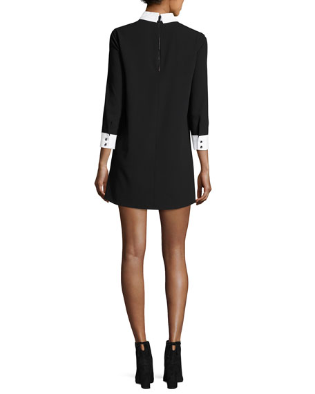 Alice + Olivia Prudence Shift Dress W/ French Cuffs
