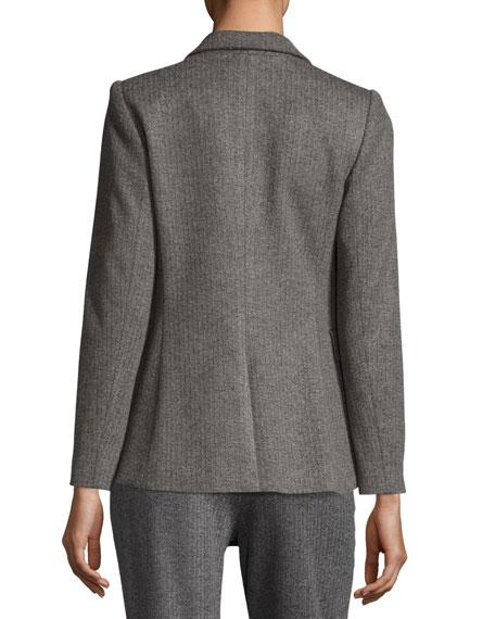 Macey Fitted Notch-Collar Blazer