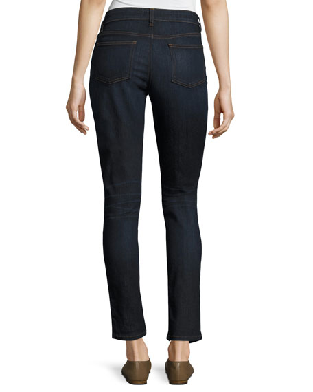 Organic Skinny Ankle Jeans, Utility Blue