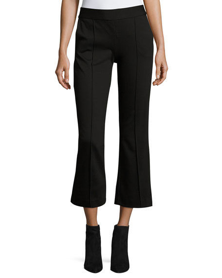 Alice + Olivia Michiko Front-Pintuck Flared Legging and