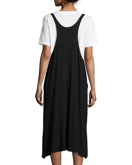 Lightweight Viscose Jersey Jumper Dress, Black