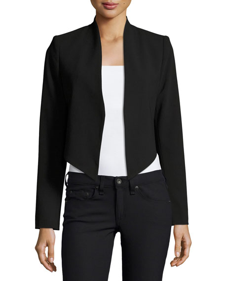Alice + Olivia Roxanne Collarless Cropped Jacket