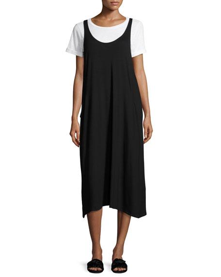 Eileen Fisher Lightweight Viscose Jersey Jumper Dress, Black,