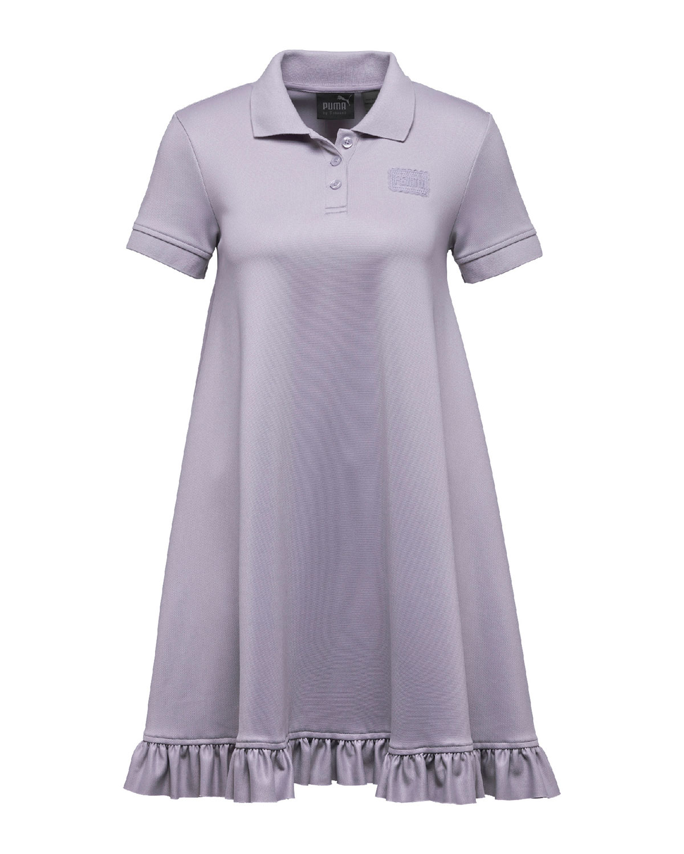 uk availability 2155a b7567 Polo Short-Sleeve Swing Mini Dress, Light Purple