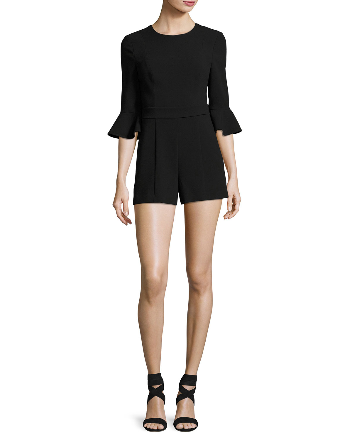 1df4493572f Black Halo Brooklyn 3 4-Sleeve Ponte Romper
