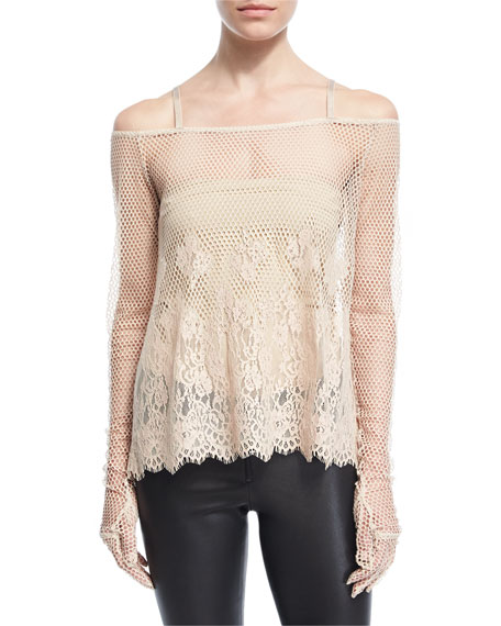 Fenty Puma by Rihanna B-Ball Mesh Lace Long-Sleeve
