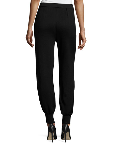 Contrast Panel Stretch Jogger Pants, Plus Size