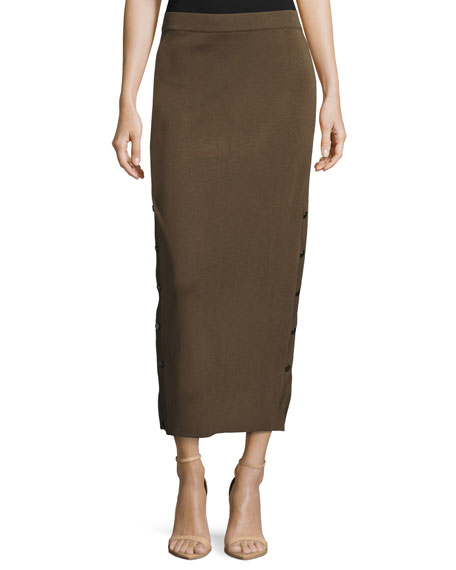 Misook Collection Knit Midi Skirt, Hazel