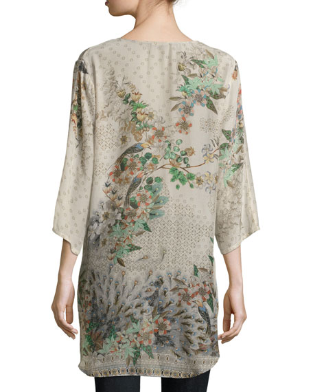 Ficher Printed Georgette Blouse