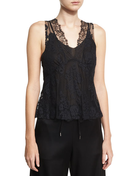 Hybrid Lace Top, Black