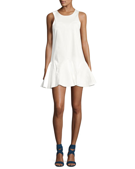 Alexis Alexia Sleeveless Knot-Back Mini Dress, White