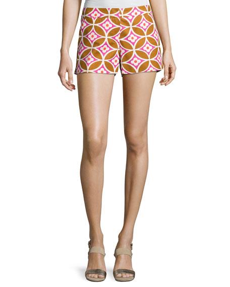 Trina Turk Corbin 2 Floral Jacquard Shorts, Cactus