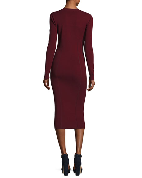 Body-Con Long-Sleeve Dress