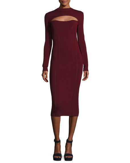 McQ Alexander McQueen Body-Con Long-Sleeve Dress