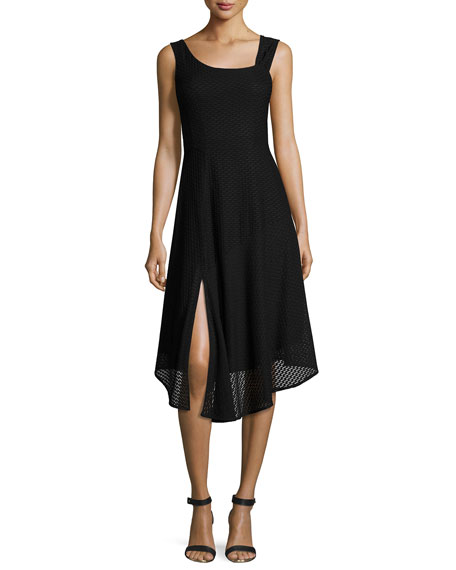Nanette Lepore First Mate Sleeveless Asymmetric Stretch Mesh