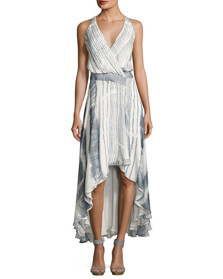 Haute Hippie Meet Me Tonight High-Low Silk Dress,