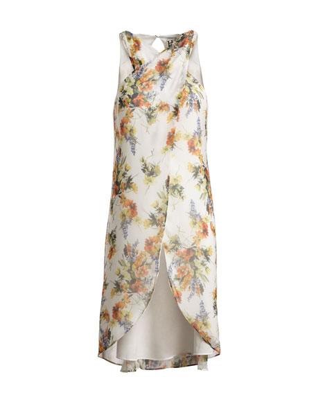 Jane High-Low Floral-Print Top, Multi