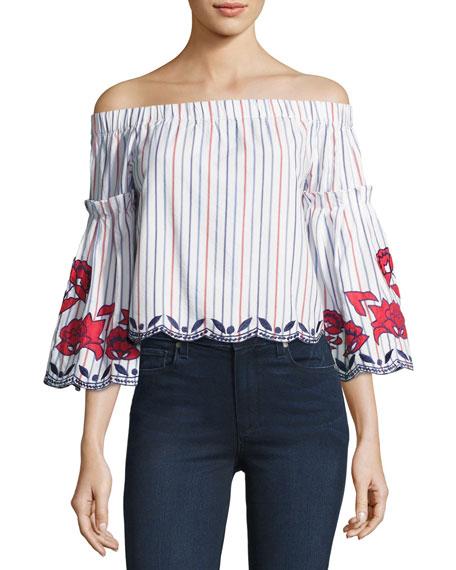 Dane Off-the-Shoulder Embroidered Blouse