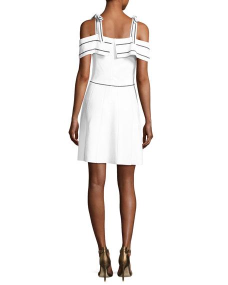Dorothy Knit Cold-Shoulder Dress, White