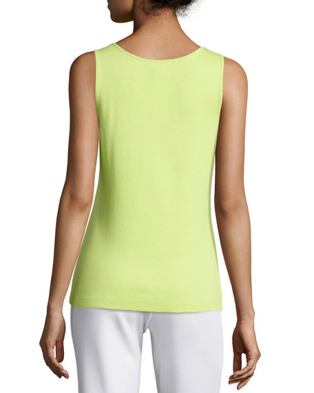Plus Size Soft Scoop-Neck Tank, Lime