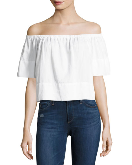 AG Sylvia Off-the-Shoulder Top, White