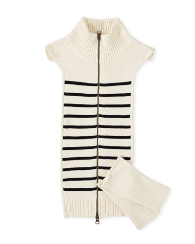 Mariner Striped Knit Dickey with Cuffs