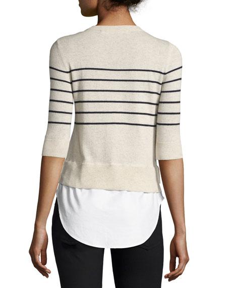 Knot Mariner Combo Sweater, Ivory