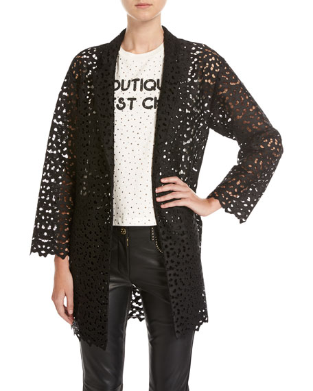 Boutique Moschino Macramé Lace Topper Jacket