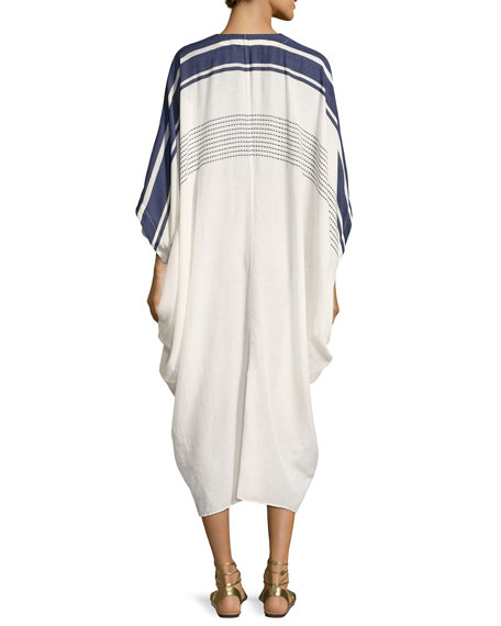 Pipa V-Neck Coverup Caftan, One Size