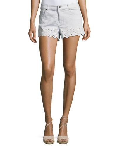 Marsh Eyelet Denim Shorts