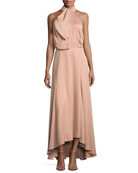 Camilla & Marc Senna Sleeveless Draped Satin Gown,