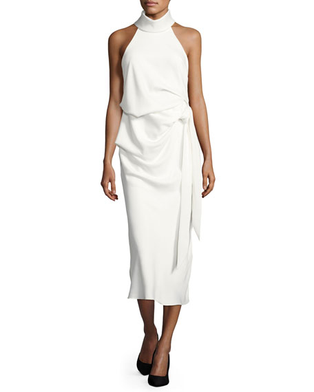 Camilla & Marc Foxglove Sleeveless Draped Cocktail Dress,