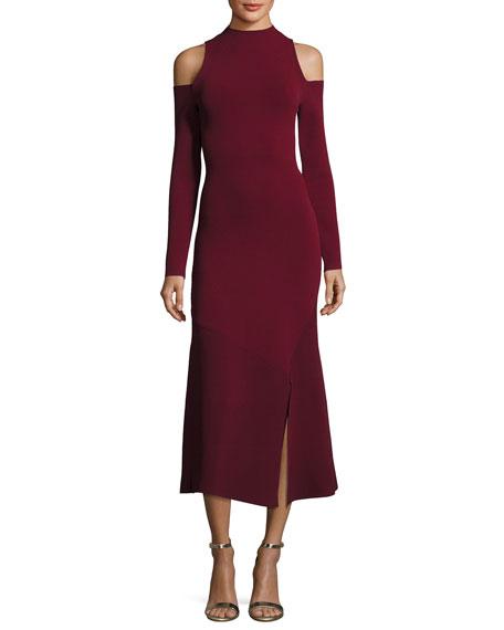 Camilla & Marc Lindeval Cold-Shoulder Jersey Cocktail Dress,