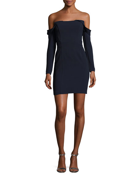 Camilla & Marc Munroe Ponte Off-the-Shoulder Mini Cocktail
