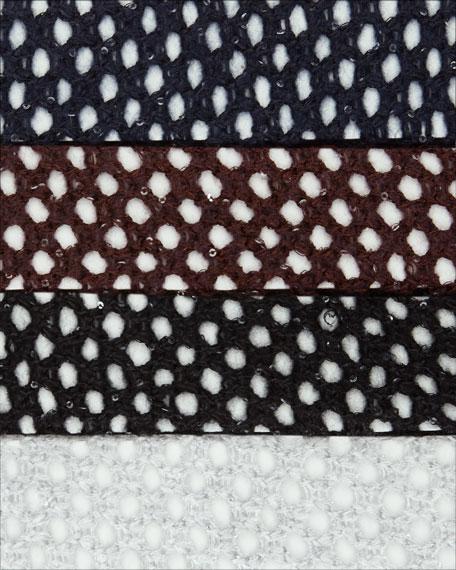 Open-Weave Sequin Cashmere Cardigan