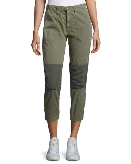 Mother Denim Army Racketeer Jogger Pants, Green