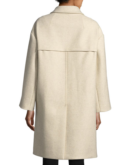 Flicka Double-Breasted Wool Coat