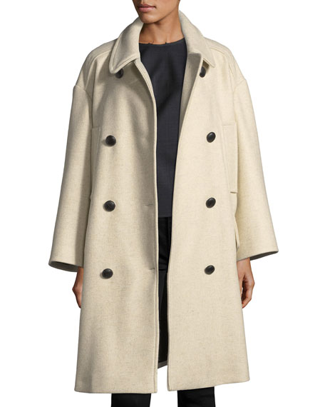 Etoile Isabel Marant Flicka Double-Breasted Wool Coat