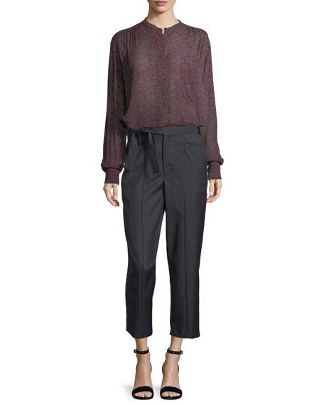 Nagano Straight-Leg Wool Pants