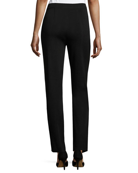 Straight-Leg High-Rise Pants, Plus Size