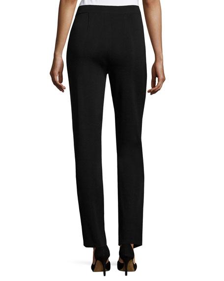 Straight-Leg High-Rise Pants, Plus Size