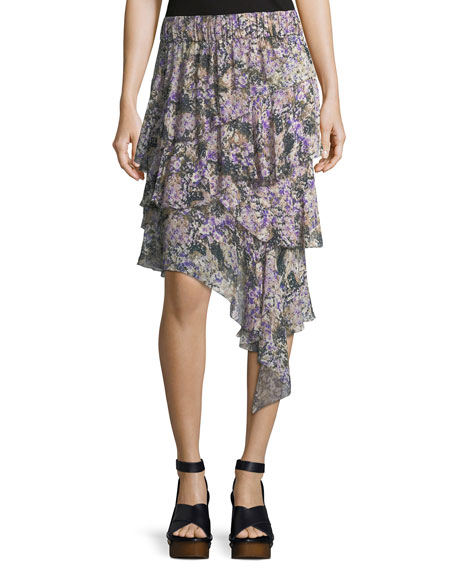 Etoile Isabel Marant Jeezon Floral-Knit Cotton Skirt